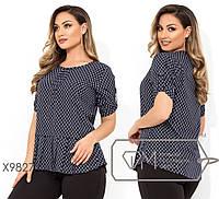 Женская стильная блузка № Х9827 (р.48-56)