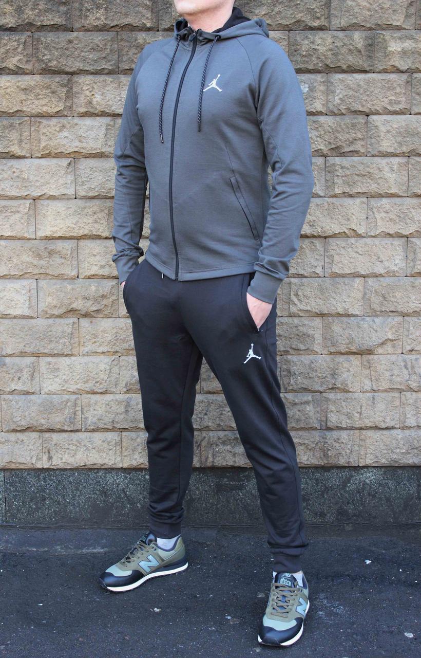 Молодежный трикотажный прямой костюм Jordan с штанами на манжете 52 размер (Реплика)