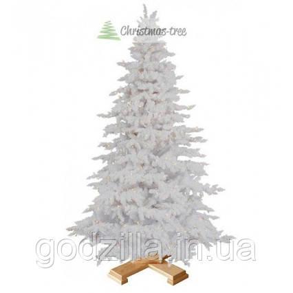 """Елка """"Белая"""" на деревянной подставке 1,85 м + Гирлянда в подарок"""