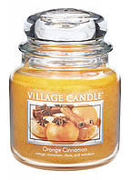 Свеча ароматическая Апельсин Корица Village Candle 389 г