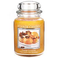 Свеча ароматическая Апельсин Корица Village Candle 602 г