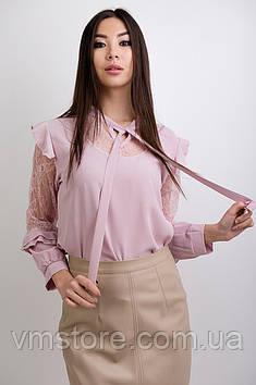 Блузка з гіпюром і рюшами