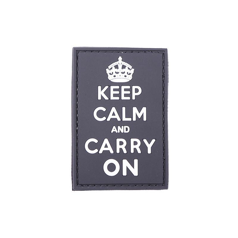 Патч GFC Keep Calm And Carry On Black