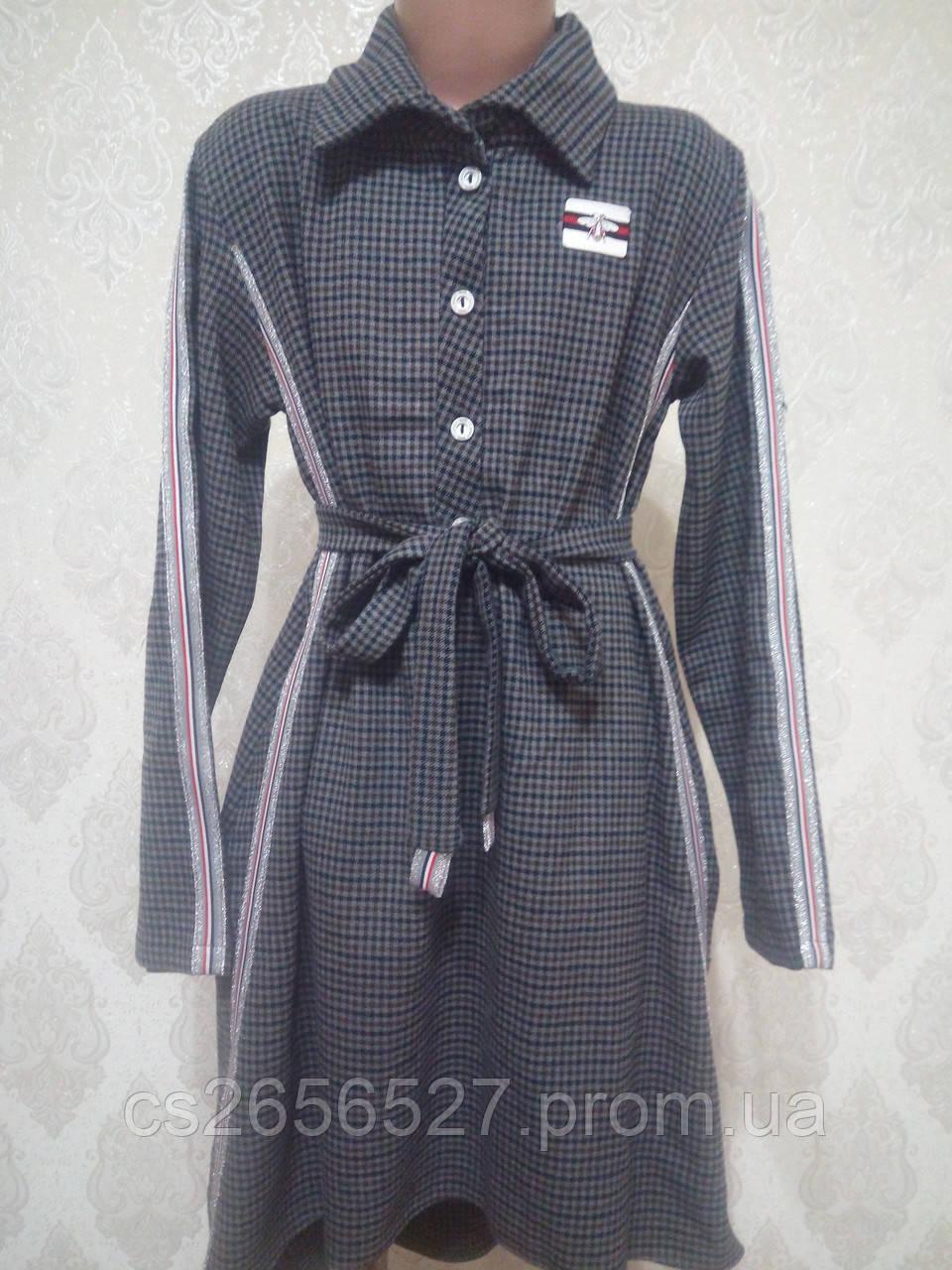 Подростковое платье -туника для девочки