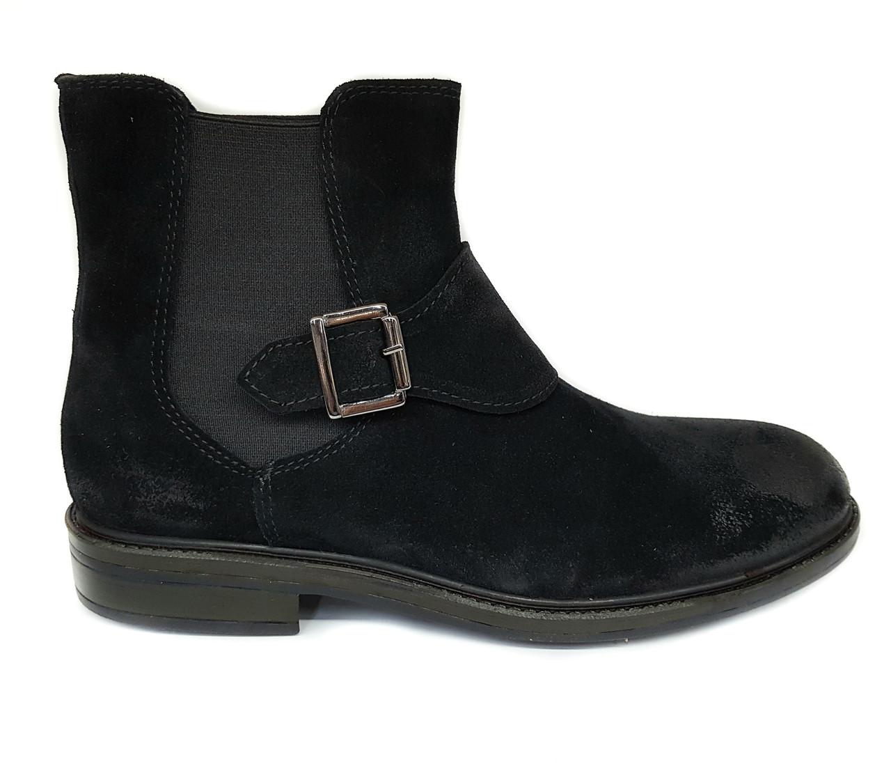 Замшевые мужские ботинки челси Luciano Bellini черные на байке