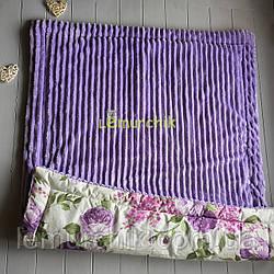 Плюшевый плед Minky с хлопковой подкладкой, фиолетовый