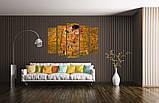 Модульная картина Поцелуй Климт, фото 2