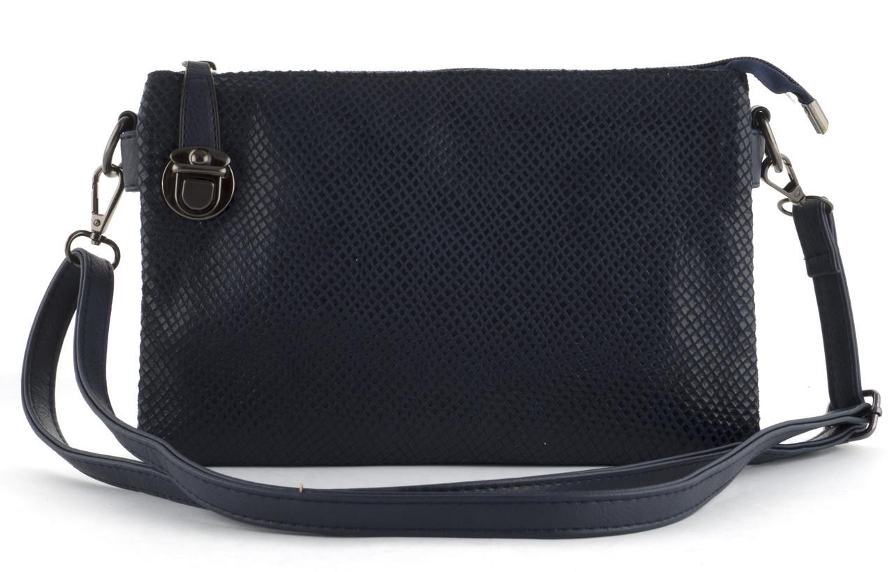 Небольшая аккуратная прочная женская сумочка почтальонка с очень качественного заменителя кожи art. 910