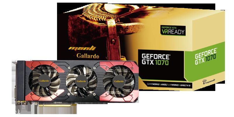 "Видеокарта Manli GeForce GTX1070 Gallardo 8GB  (M-NGTX1070G/5RGHDPPP-F378G) ""Over-Stock"" Б\У"