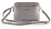 Небольшая аккуратная прочная женская сумочка почтальонка с очень качественного заменителя кожи art 3014 бронз , фото 1
