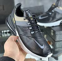 Кроссовки мужские Nike 270 Leather D4337 черные кожаные