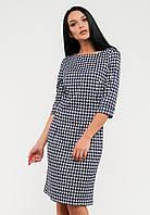 Приталенное женское платье с оригинальным принтом рукав три четверти Modniy Oazis серый 90136, фото 1