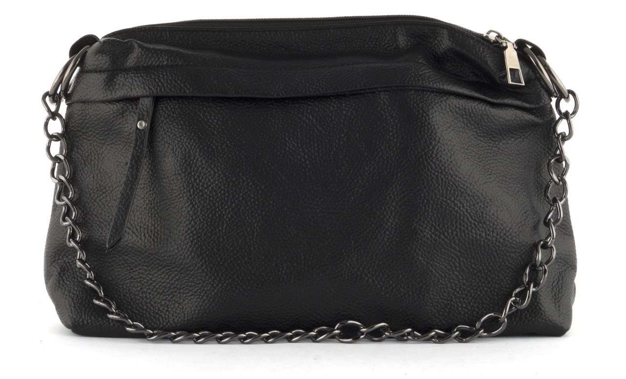 Качественная стильная мягкая сумка с эко кожи высокого качества Little Pigion art. 6207 черная