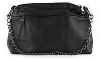 Качественная стильная мягкая сумка с эко кожи высокого качества Little Pigion art. 6207 черная, фото 1