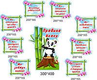 Правила класу - Панда - Стенди для школи