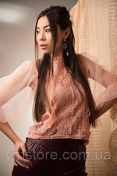Гипюровая ажурная блузка