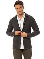 Серый мужской пиджак LC Waikiki / ЛС Вайкики на пуговицах, с карманами XXL