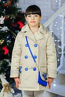 Детская куртка демисезонная для девочки Дольче, размеры 116-134