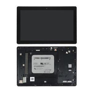 Дисплейний модуль для планшету ASUS Z300CNL Z300M ZENPAD 10, чорний, з рамкою, жовтий шлейф, #FT5826SMW, TV101WXM-NU1