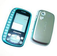 Корпус для телефону Samsung B3310, блакитний