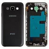 Корпус для смартфону Samsung E500H/DS Galaxy E5, чорний, з боковою кнопкою