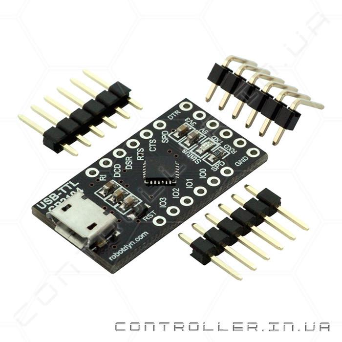 Конвертер CH340G USB-UART USB-TTL RobotDyn Micro USB