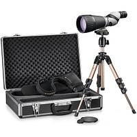 Труба подзорная Leupold Kenai 2 25-60x80 HD Straight Kit Gray/Black