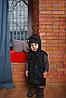 Весенняя детская жилетка с капюшоном черного цвета, фото 4