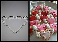 Вырубка для пряника и печенья Сердце с крыльями