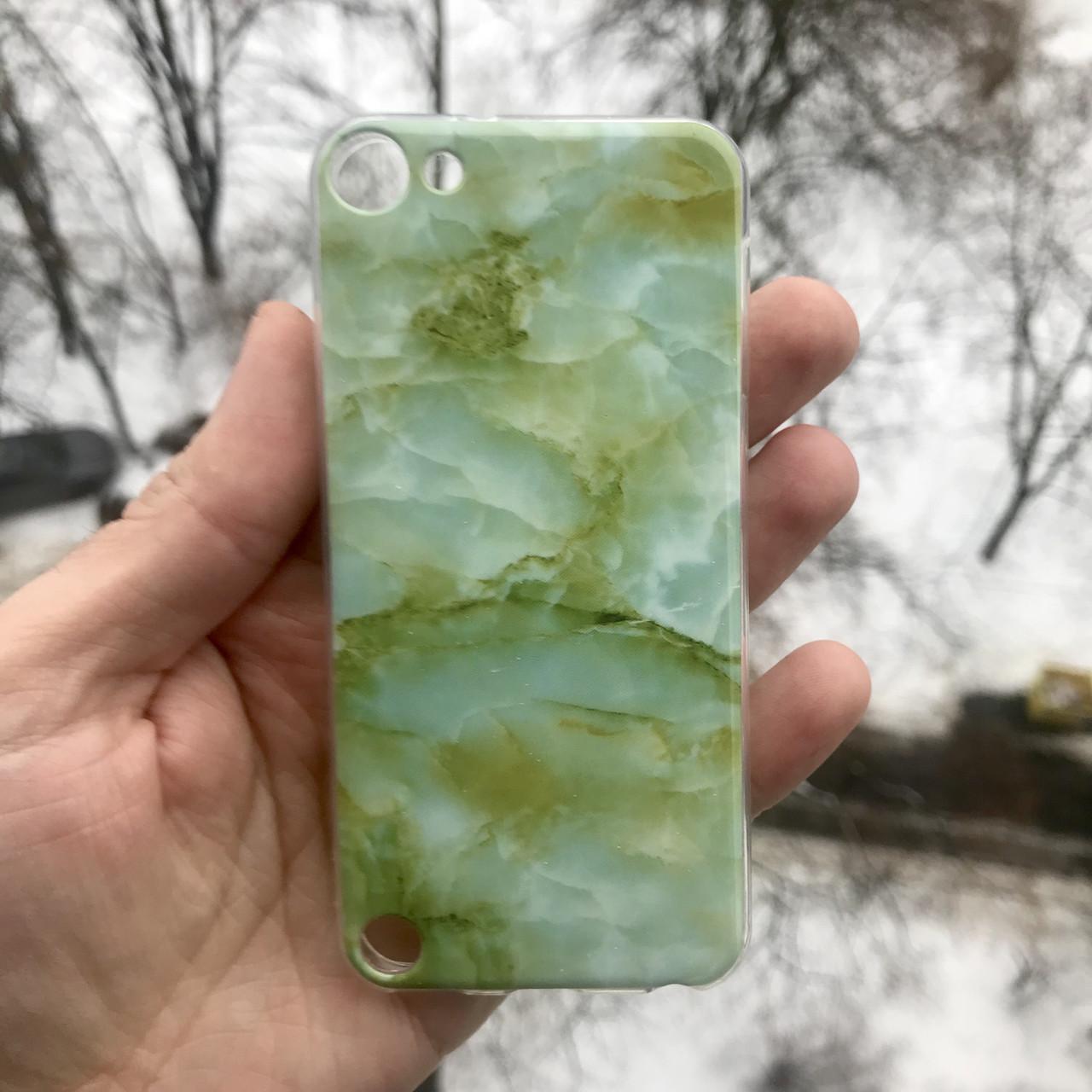 Полиуретановый чехол гранит для Apple iPodtouch 5\6\7\7 + защитная пленка на экран в подарок