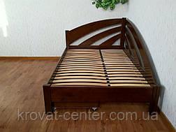 """Полуторне ліжко з ящиками з масиву натурального дерева """"Веселка"""" від виробника, фото 3"""