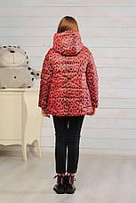 Детская демисезонная куртка для девочки Лола леопард, размеры 128-152, фото 2