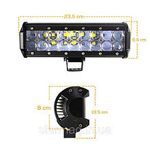 Автофара LED (18 LED) 5D-54W-SPOT прямоугольная автофара 54W на 18 ламп