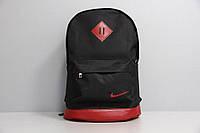 Стильный городской спортивный рюкзак NIKE, цвет черный с красным