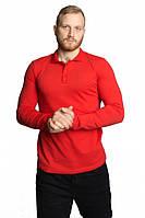 Мужская футболка поло с длинным рукавом красная