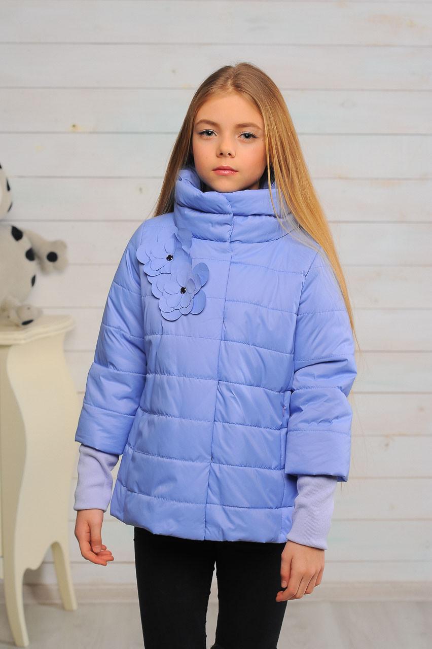 Детская демисезонная куртка для девочки Миледи, размеры 122-152р.