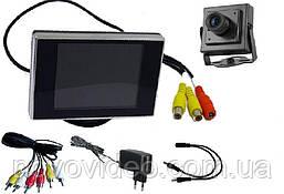 Комплект видеонаблюдения мини камера с монитором