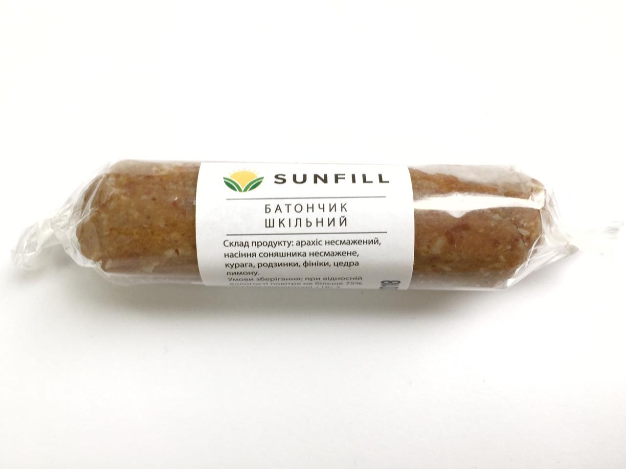 Батончик с арахисом и курагой Sunfill, 50г