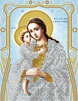 """Схема для вышивки бисером на атласе икона """"Богородица Взыскание погибших"""" (серебро)"""