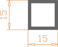 Алюминиевая труба квадратная 15*15*1,5 / AS