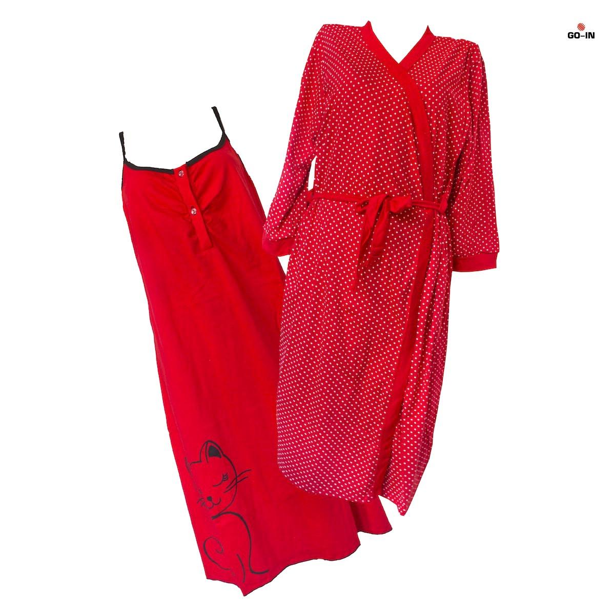 7f4b1ffdf1c Комплект халат + ночная рубашка 52-54 р. стрейч кулир  продажа