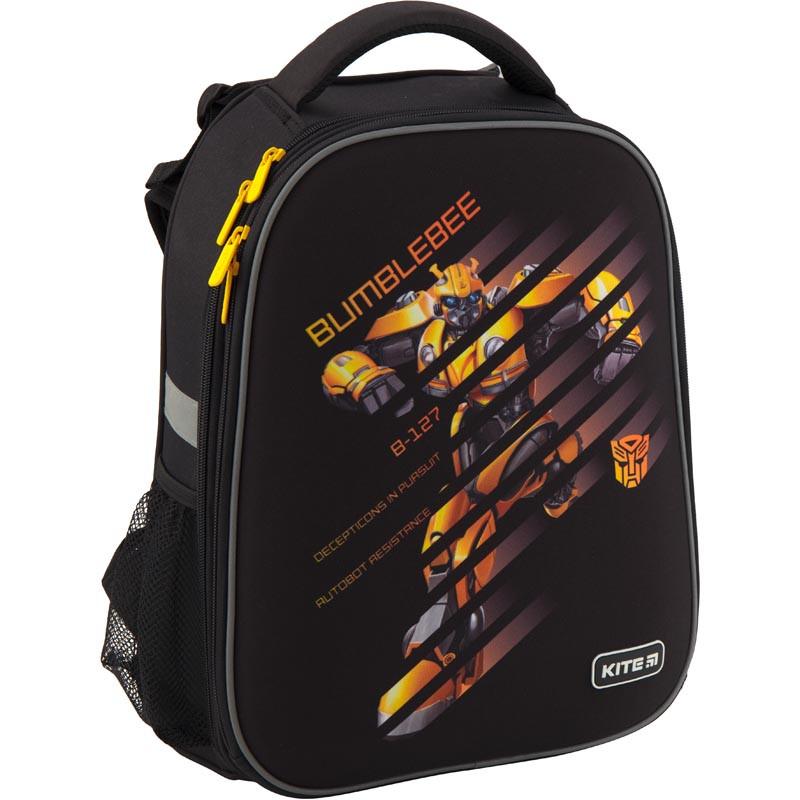 a7cc90c3b2ab Рюкзак школьный каркасный Kite Education Transformers 38x29x16 см 20 л  Черный (TF19-531M)