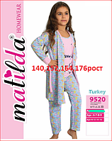 559e3e397dd4 Детская и подростковая пижама с халатом для девочек турецкого производства  140,152,164,176рост