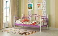 Металлическая кровать Алонзо 80х190 см. Мадера