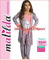 8b71e5a6b707 Детская и подростковая пижама с халатом для девочек турецкого производства  176рост