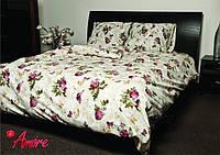"""Комплект постельного белья""""Бабочки на розах""""2х спальный"""
