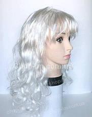 Парик белый, кудрявый (55 см), фото 2