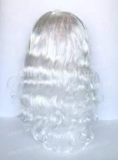 Парик белый, кудрявый (55 см), фото 3