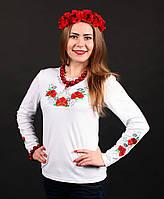 Модная женская вышиванка с длинным рукавом