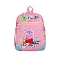 Рюкзак школьный для девочки розовый с рисунком Peppa Pig опт, фото 1